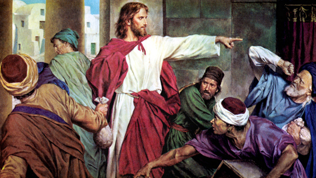 Jesus casting out the money changers – The Herald